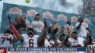 Oklahoma State dominates #10 Colorado in Alamo Bowl, 38-8 - Video