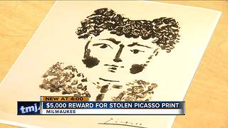 $5,000 reward offered for stolen Picasso print - Video
