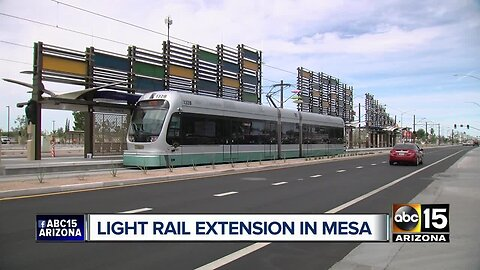 Light rail extension opens in Mesa, includes 2 new stations