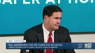 No answers from Governor Ducey on return to school plans