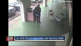 St. Pete Police ask for help identifying crook who stole 94-year-old's tricycle - Video