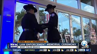Law enforcement memorial ceremony held in West Palm Beach - Video