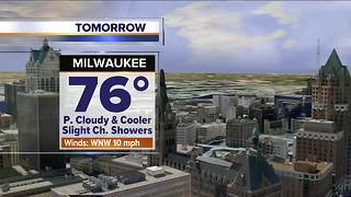 Cloudy and cooler with some showers Thursday - Video