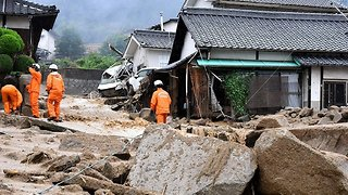 Landslides Hit Hiroshima Prefecture as Record Rainfall Batters Japan - Video