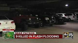 Flash flood stretched 40 feet near Payson - Video