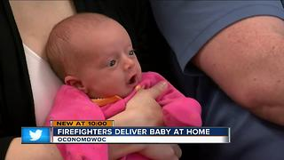 Oconomowoc family reunites with police and paramedics who delivered baby