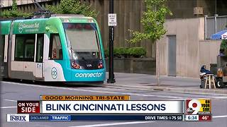 Here's what BLINK taught us about getting around Downtown, OTR - Video