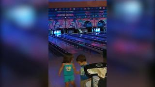 Tot Girl Bumps Into A Chair And Falls Down - Video
