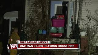 Man killed in Akron house fire - Video