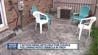 Couple asks 7 Action News for help following Troy patio debacle - Video