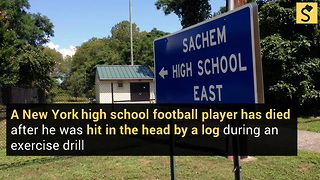 High School Student Dies After Log Falls on Him During Football Drill - Video