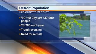 Detroit expected to see first population increase in decades - Video