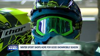 Snowmobile shops hoping to bounce back after pair of rough winters--6pm - Video