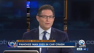 Man dies in single-vehicle crash in Martin County - Video