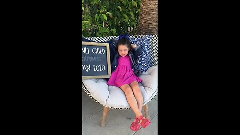 'Only child expiring January 2020': Little girl in California not happy becoming a big sister