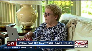 Woman says her smartwatch saved her life