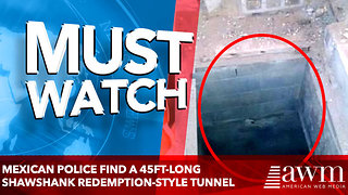 Mexican police find a 45FT-long tunnel - Video