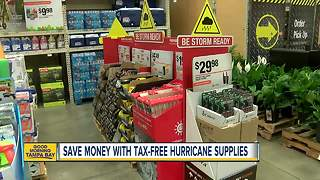 Save money with tax-free hurricane supplies until June 7 - Video