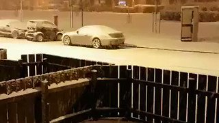 Belfast Gets Covering of Snow in Wake of Storm Caroline - Video