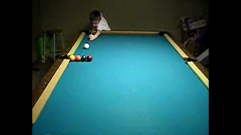 memorable billiard demonstration by a 5 year old child