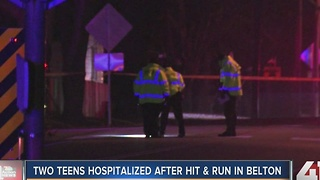 2 teens hospitalized after hit-and-run in Belton - Video
