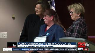 Casa graduates 18 new advocate volunteers - Video