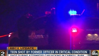 Teen shot by former officer in critical condition - Video
