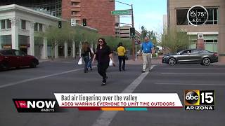 Weather creating poor conditions, pollution in Valley