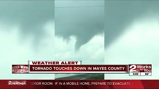 Tornado touches down in Mayes County
