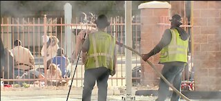Homeless Thanksgiving continues at Catholic Charities of Southern Nevada despite pandemic