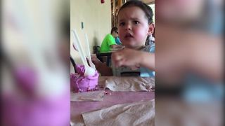 Boy Does Not Want To Share His Ice Cream