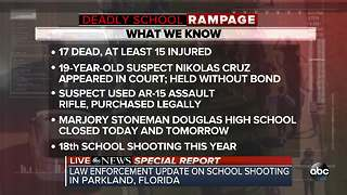 Law enforcement officials share update on yesterday's deadly Florida school shooting in Parkland | SPECIAL REPORT - Video