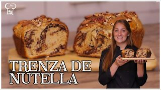 Delicious braid stuffed with Nutella Delirante Kitchen