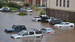 Deep Floodwater Seen in Lynchburg Amid Fears Dam Could Fail - Video