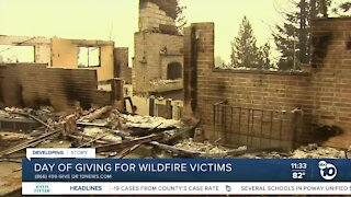 Day of giving for wildfire victims