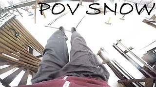 Parkour Training in Snow-Covered Park Is Challenging - Video