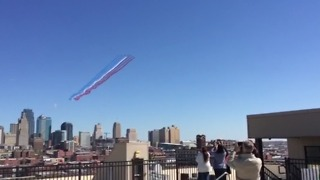 French Jets Flyover Downtown Kansas City  - Video
