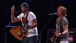 Luke Bryan and Keith Urban at CMA Music Festival | Rare Country - Video
