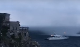 Waterspout Spotted Close to Coastline in Amalfi, Italy