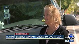 Elderly Longmont woman living in van with limited food and shelter - Video