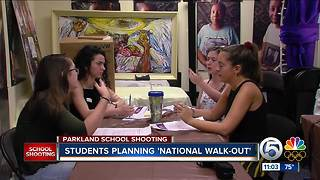 Teens meet to plan National School Walkout to protest gun violence - Video