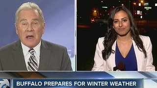 Buffalo prepares for winter weather - Video