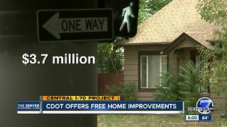 CDOT, Denver offer money for home improvements along Central 70 - Video