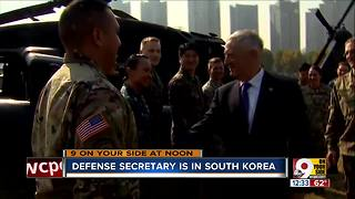 Defense secretary visits South Korea - Video