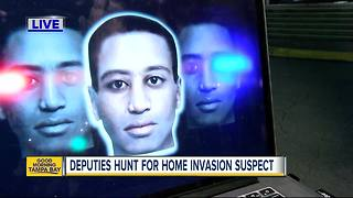 Composite sketch released of home invasion suspect that beat up elderly woman, stole guns - Video
