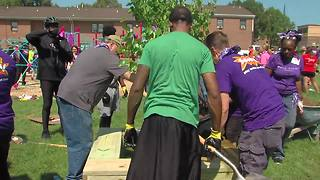Playground built in McCulloh Homes - Video