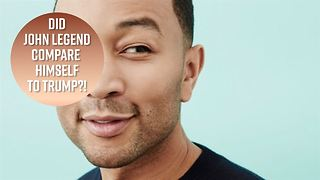 John Legend's theory about Donald Trump - Video