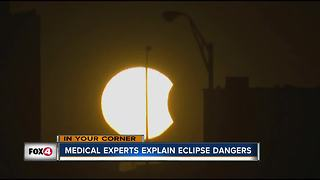 Medical experts explain eclipse dangers - Video