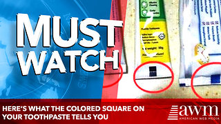 Here's what the Colored Square On Your Toothpaste Tells You - Video