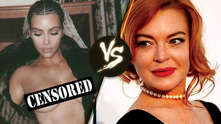 Kim Kardashian CLAPS BACK at Lindsay Lohan for Criticizing Her Braids in Topless Photo